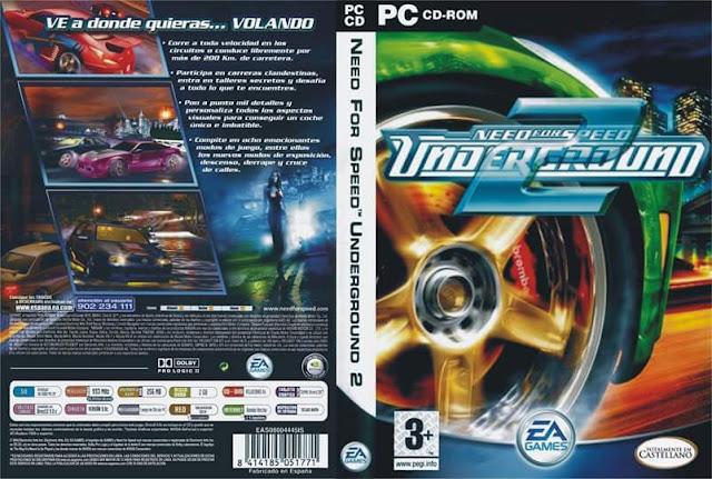 الجزء التانى من لعبه سباق السيارات NFS Underground 2 المعروفه والمشهوره
