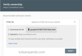 langkah dan tahapan memverifikasi google blog