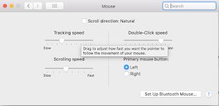 Mac mouse ayarları