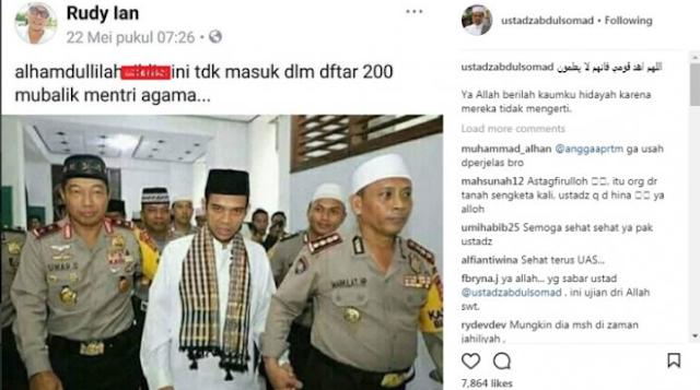 Ustadz Abdul Somad dikatain iblis