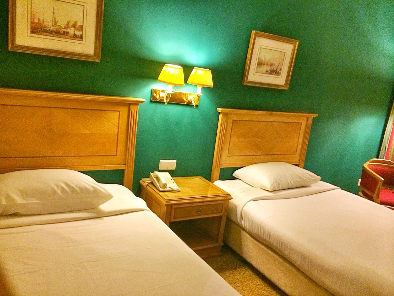 エジプトのホテルのベッド