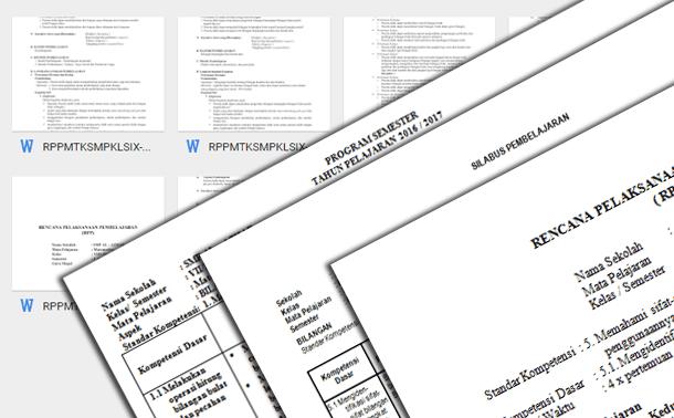 RPP Silabus Prota Promes Matematika SMP MTs Berkarakter Kurikulum 2013