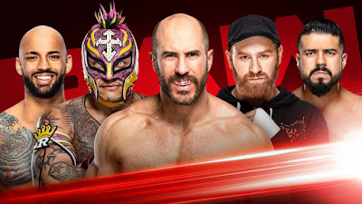 Gauntlet WWE Mysterio Ricochet Cesaro Raw Paul Heyman