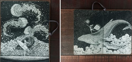 00-Kerby-Rosanes-Detailed-Moleskine-Doodles-with-many-Whales-www-designstack-co