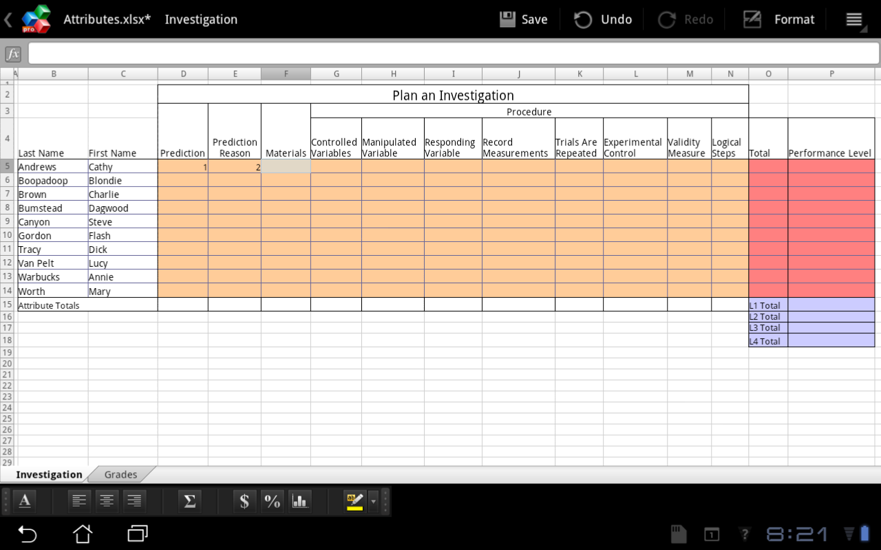 Excel For Educators Excel Apps For Android Officesuite