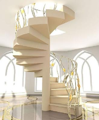 Model Desain Tangga Spiral