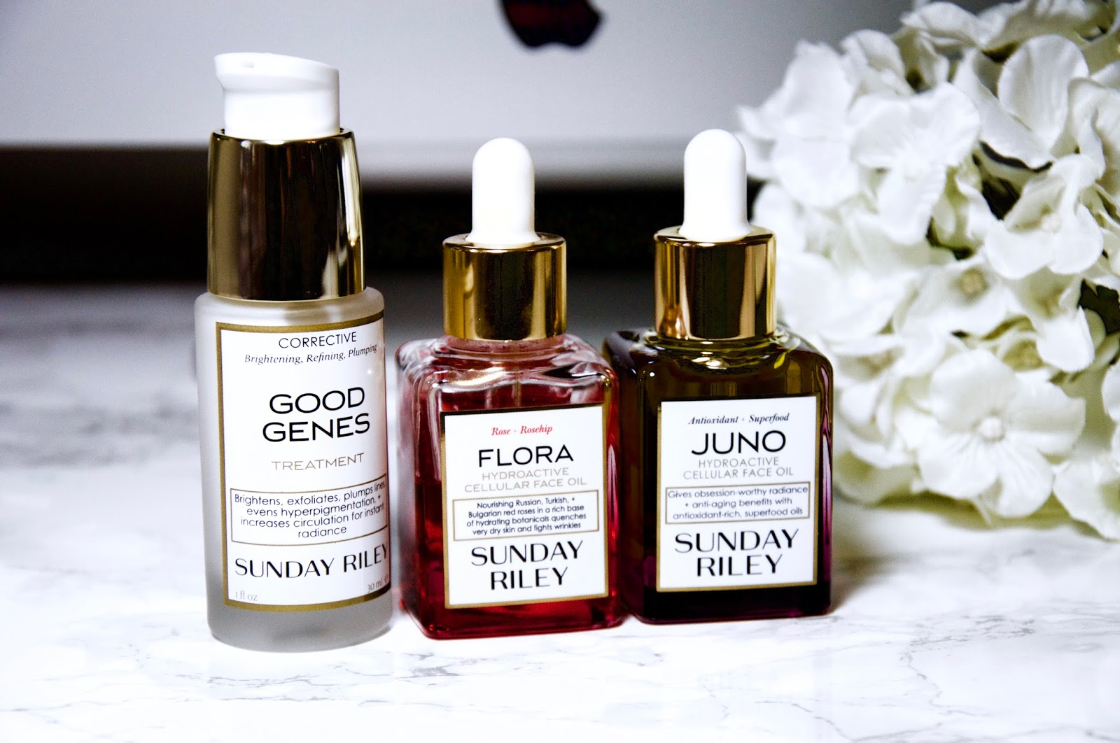 sunday riley,sunday riley good genes treatment review, sunday riley juno hydroactive cellular face oil review, sunday riiley flora hydroactive cellular face oil review.