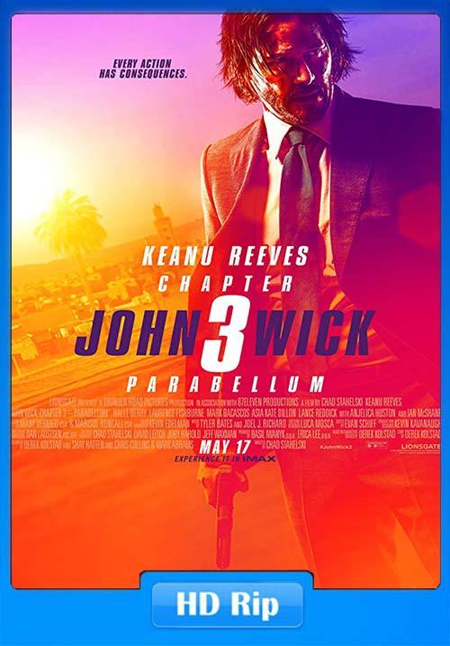 John Wick 3 Parabellum 2019 English HDRip 720p ESub x264 | 480p 300MB | 100MB HEVC Poster