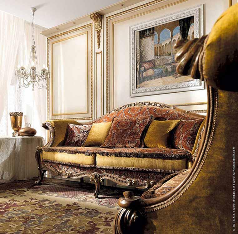 Luxury Classic Living Rooms: Interior Design Decorating Ideas: Luxury Classic Sofas