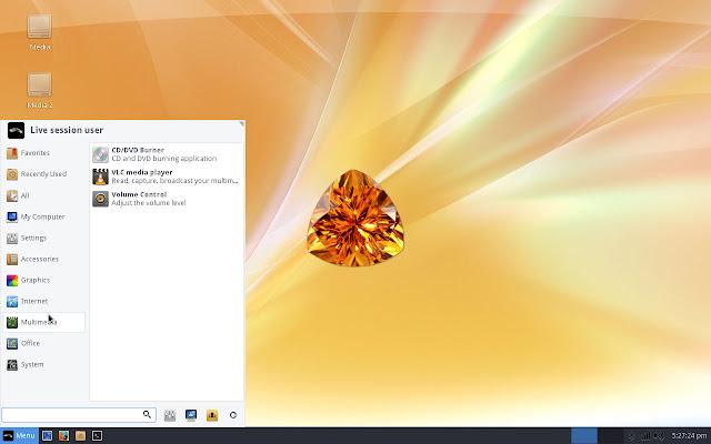 Whisker application menu