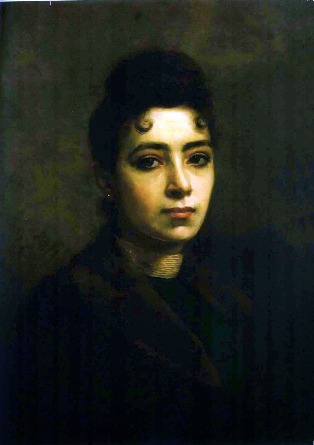 Bertha Worms, Self Portrait, Portraits of Painters, Fine arts, Painter