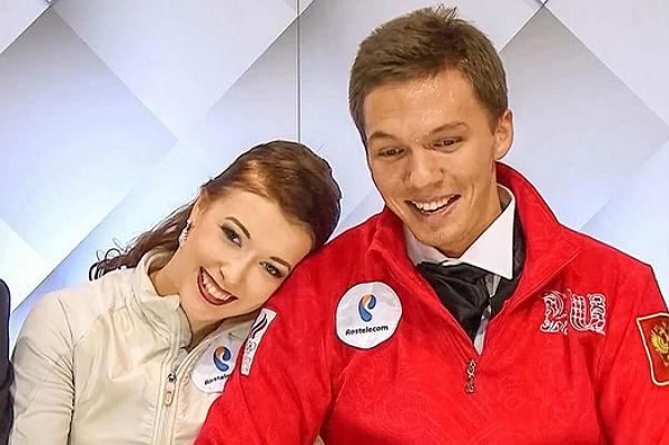 Ekaterina Bobrova with Dmitry solovevym partner