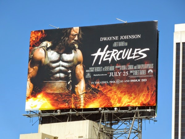 Hercules movie billboard ad