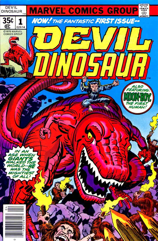Devil Dinosaur #1 marvel 1970s bronze age comic book cover art by Jack Kirby