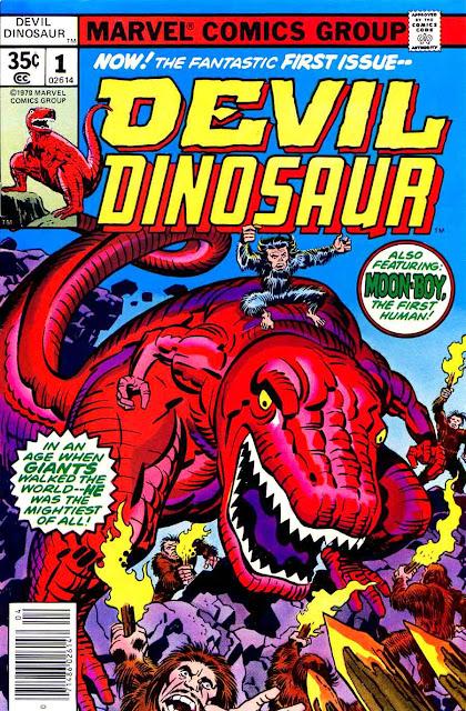 Devil Dinosaur v1 #1 marvel 1970s bronze age comic book cover art by Jack Kirby