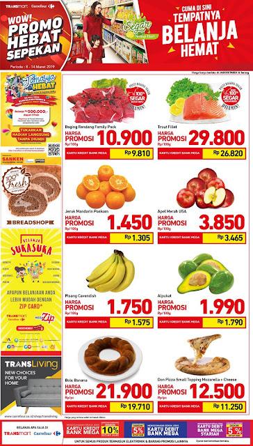 #Transmart #Carrefour - #Promo #Katalog WOW HEBAT SEPEKAN Periode 08 - 14 Maret 2019