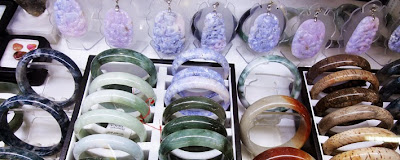 pretty lavender jade white and brown color items for sale