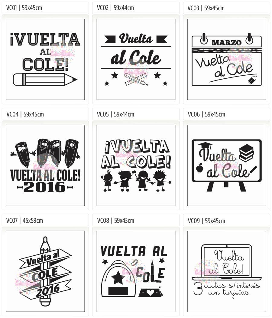 cdm-vinilos Vidiera Escolar, Carteles, Back to School, Vuelta al Cole 2016, Vidrieras, vinilos decorativos