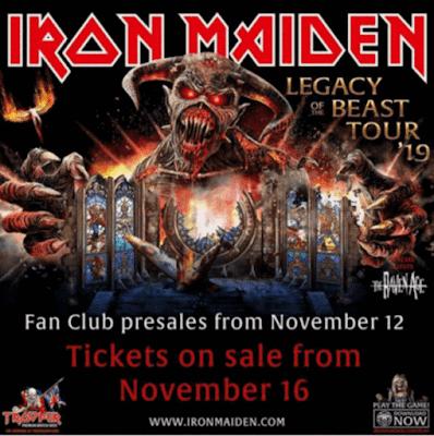 Iron Maiden llegará a la Argentina en octubre de 2019.