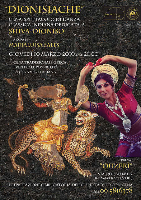 shiva e dioniso mediterraneo museo oriente india danza indiana odissi roma