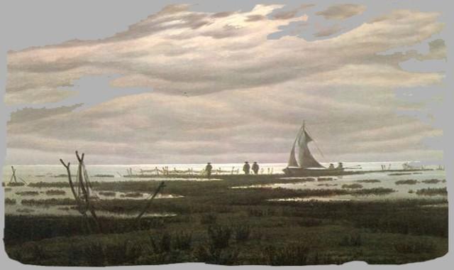 Seelandschaft mit Wolken