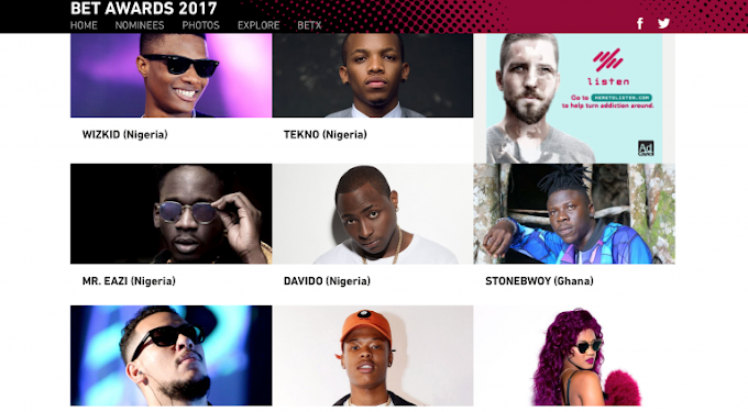 Stonebwoy, Mr Eazi and more nominated for 2017 BET Awards Best International Act – Africa