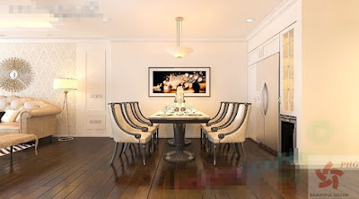 Không gian bếp đẹp tân cổ điển