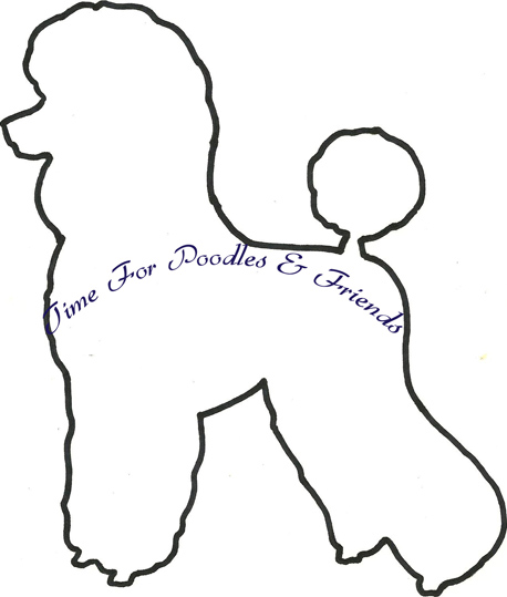Time for poodles and friends free poodle pattern 2 for Poodle skirt applique template
