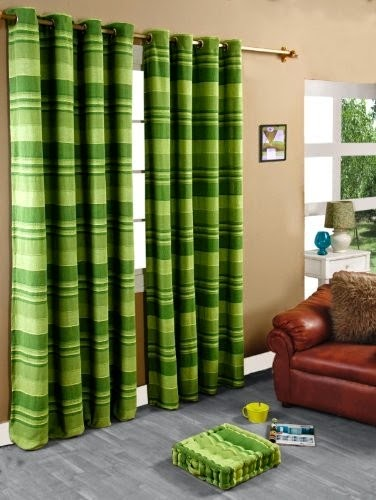 Green Modern Curtains For Beige Living Room