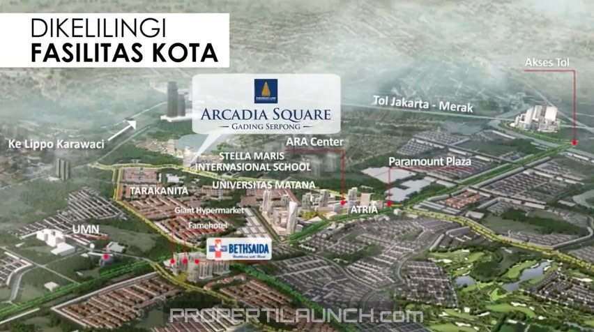 Fasilitas Sekitar Arcadia Square Gading Serpong