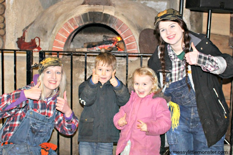 Bluestone Wales Resort Review - panning for gold activity for kids at camp smokey
