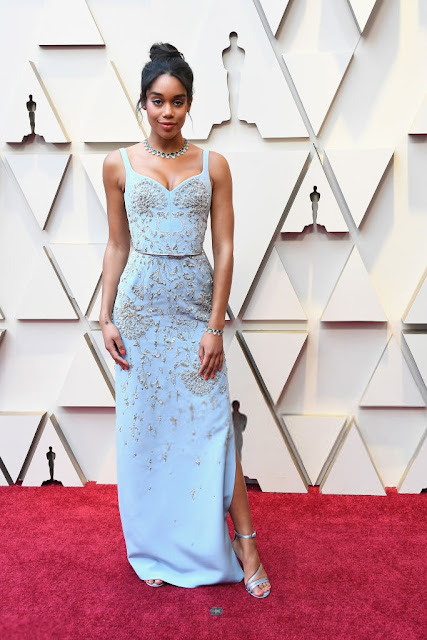 Laura Harrier Red Carpet Academy Awards