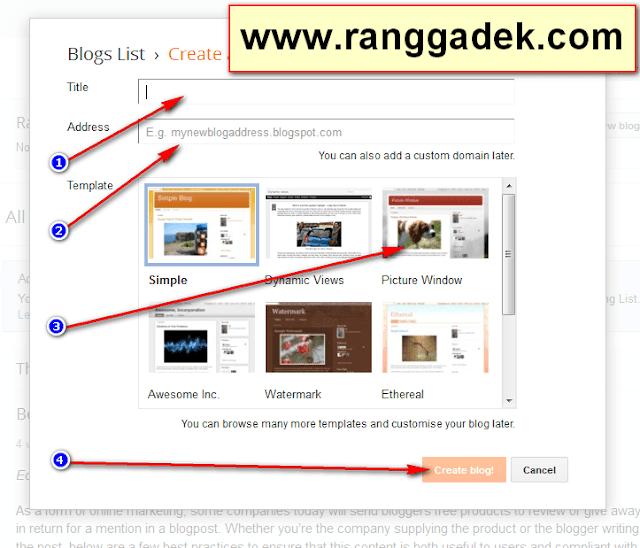 Panduan Lengkap Cara Membuat Blog Gratis di Blogger Dengan Cepat
