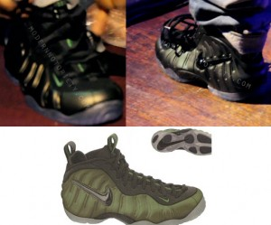 8e37f9b7077 Wale rockin Nike Foamposite Pro –  Dark Pine  Sneakers. Newly signed artist  to Rock Ross s Label Wale is back at it showing off another pair of NIKE ...