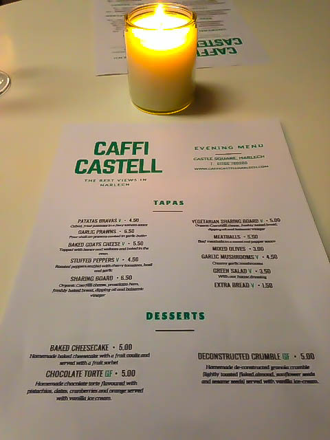 Caffi Castell Tapas Restaurant: Menu