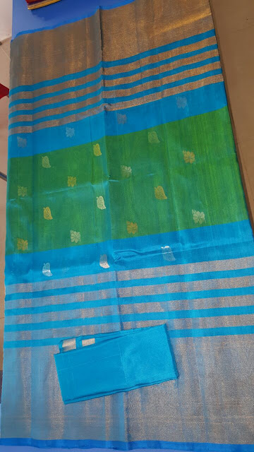 Green color upppada silk saree