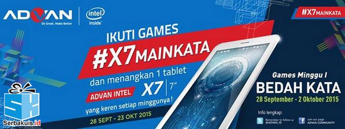Kuis Main Kata Berhadiah Tablet Advan Intel Vandroid X7