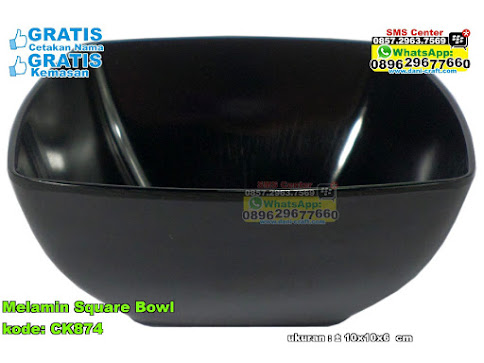 Melamin Square Bowl