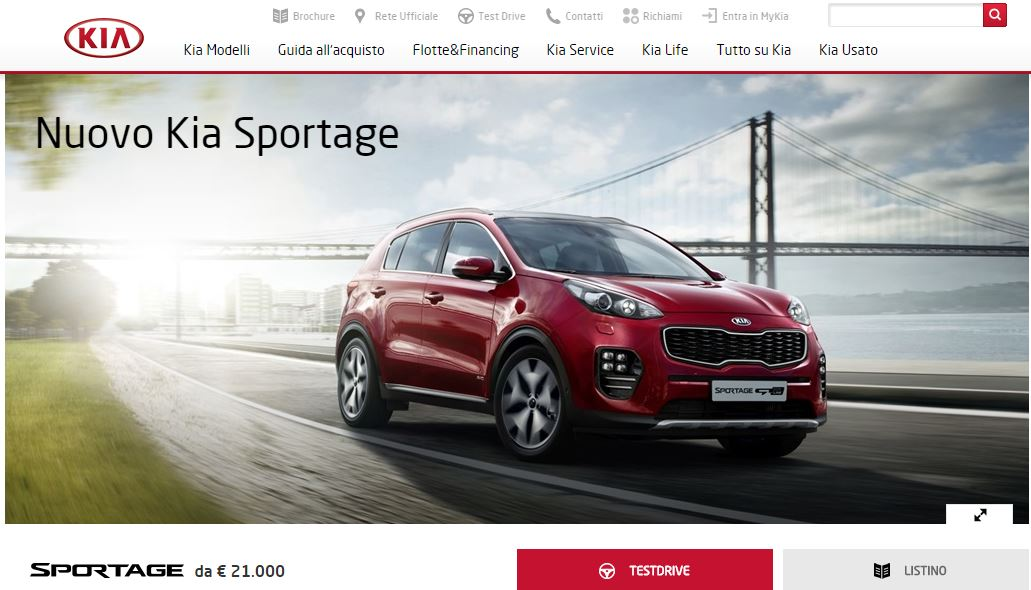 test drive kia sportage 2016 come richiedere una guida di prova della nuova sportage dmotori. Black Bedroom Furniture Sets. Home Design Ideas