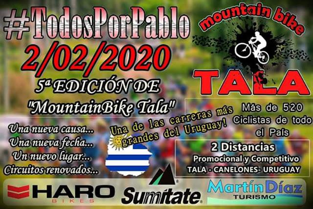 MTB - Todos por Pablo en Tala (Canelones, 02/feb/2020)