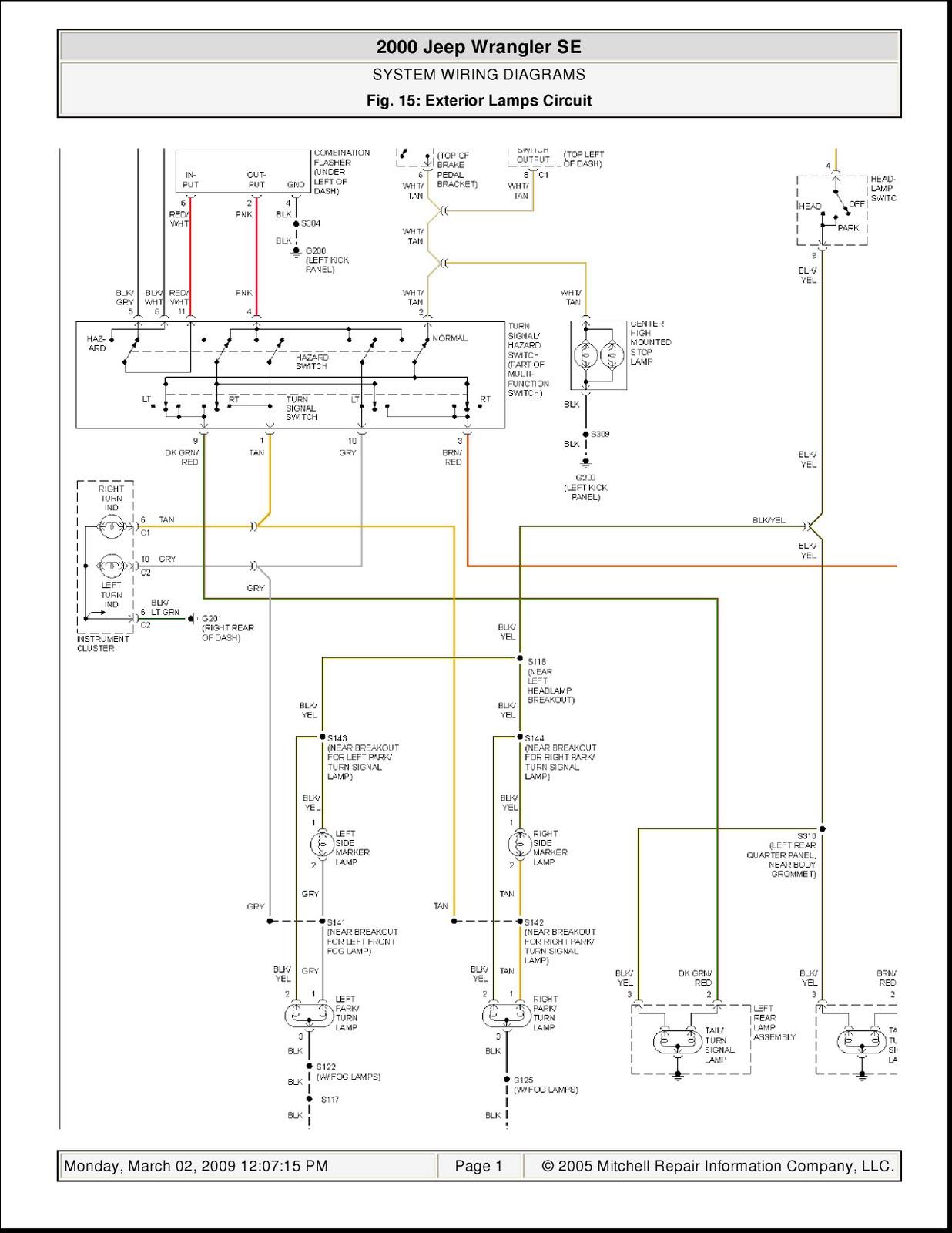 94 Jeep Wrangler Brake Light Wiring Diagram