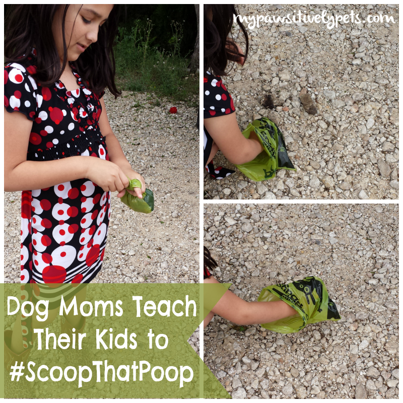Dog moms teach their kids to #scoopthatpoop