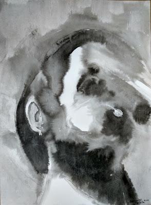 retrato tinta china Benjamin Vilella Manolo