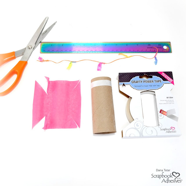 How to Seal a Paper Roll Tube with Tissue Paper to Make a Personal Pinata