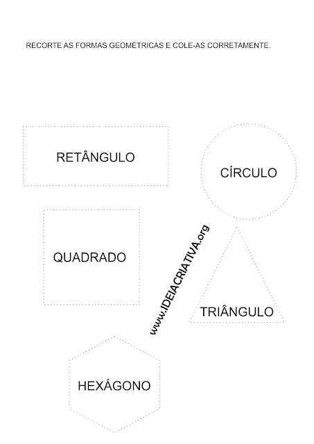 Formas Geométrica Atividade de Recorte  e Jogo Online