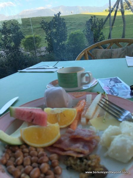 breakfast with view at The Garden Court Western Restaurant at Parkview Hotel in Hualien, Taiwan