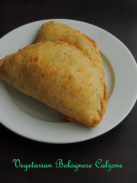 Vegetable Bolognese Calzone