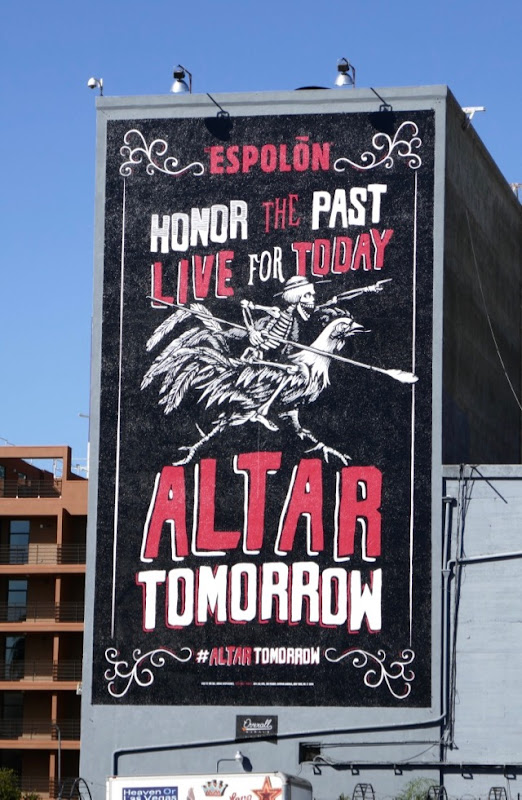 Altar tomorrow Espolon Tequila billboard