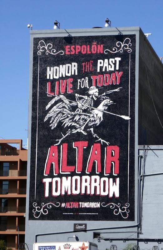 Altar tomorrow Espolon Tequila billboard