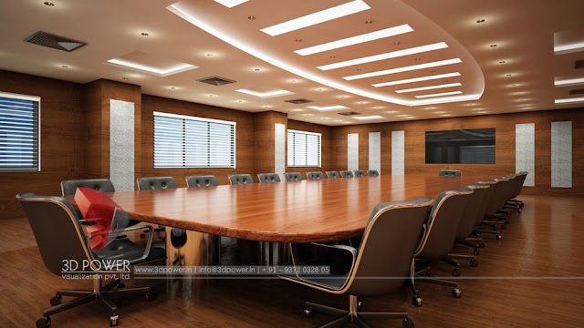 Interior Rendering Services for Conference Room